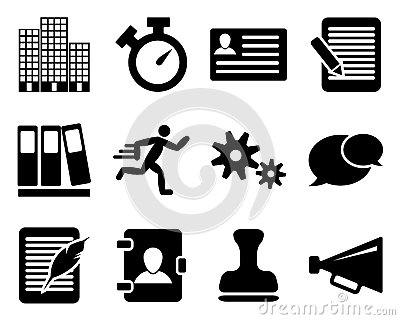 Office and bussines icon set