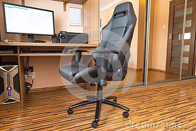 Office chair at the computer desk