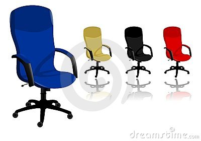 Office chairs, cdr vector