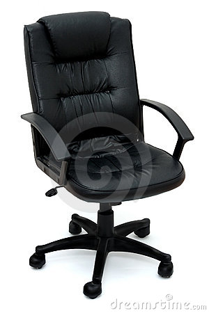 Office chairs over white