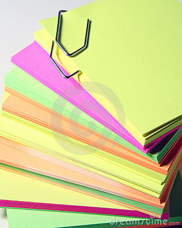 Free Office Colored Papers Royalty Free Stock Photo - 3077695