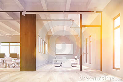 Office and conference rooms toning Stock Photo