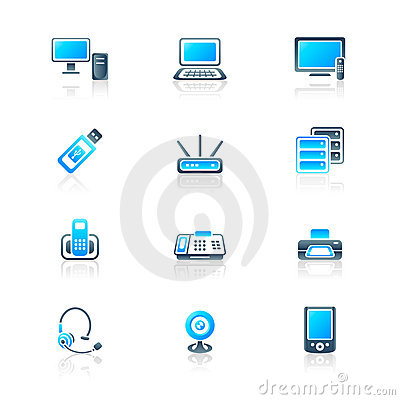 Office electronics icons | MARINE series