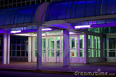 Office Entrance at Night