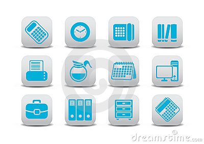 Office equipment icons