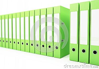 Office folders, binder 3d Illustrations