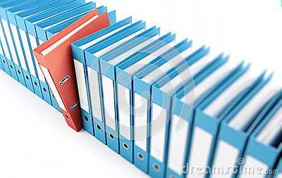 Office folders, binder 3d Illustrations