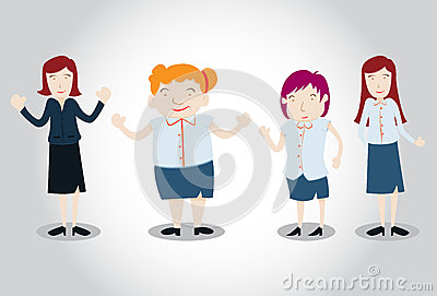 Office Girl Characters