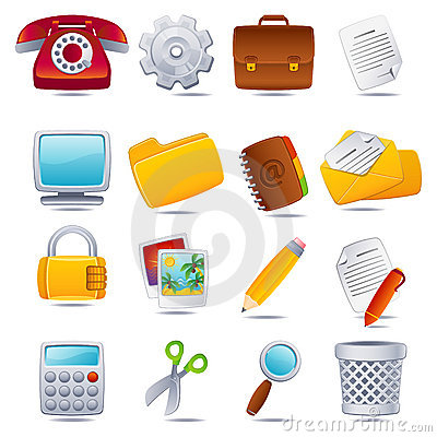 Free Office Icon Stock Photos - 7997553