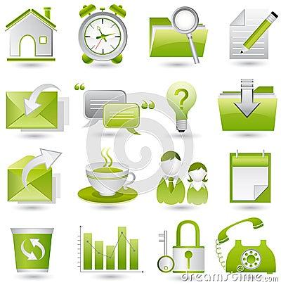 Free Office Icon Set Stock Photo - 11603250