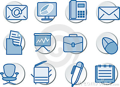 In office Icon set