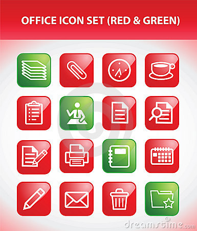 Free Office Icon Set Stock Images - 18535644