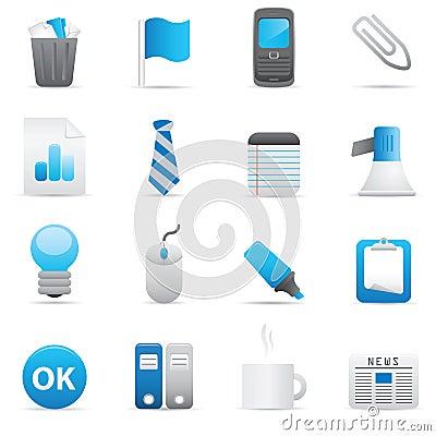 Free Office Icons | Indigo Series 02 Stock Image - 14928901