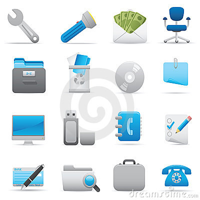 Free Office Icons | Indigo Series 03 Stock Photo - 14928910