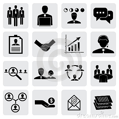 Office icons(signs) of people & concepts for business graphic