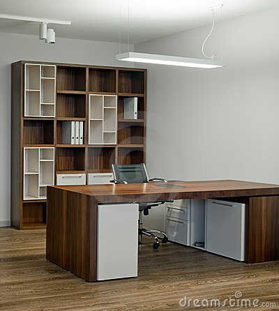 Office interior design. Elegant and luxury.
