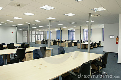 Office interior - modern empty open space office