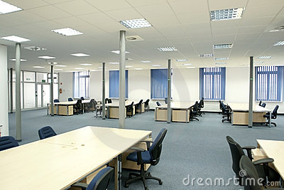 Office interior - modern empty open space office