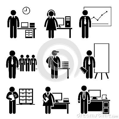 Free Office Jobs Occupations Careers Royalty Free Stock Image - 35246186
