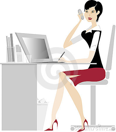 Free Office Lady Stock Photography - 542332