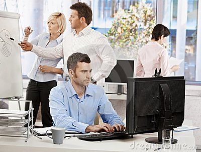 Office life - business people working
