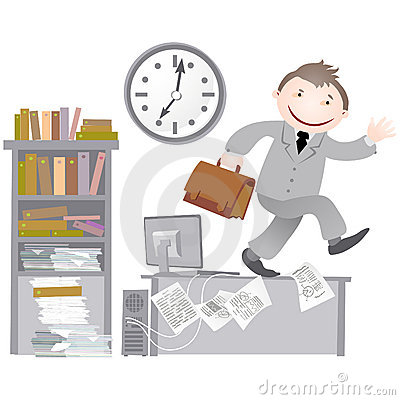 Free Office Life - End Of Day. Stock Photo - 13168140