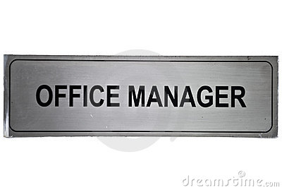 Office manager label