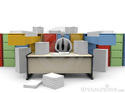 Office Moments - Endless Paperwork