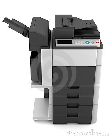 Office multifunction printer  on white