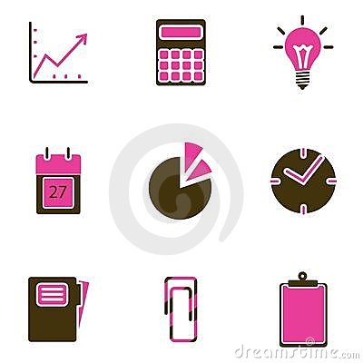Office object icon set