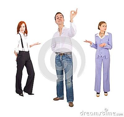 Office people gestures
