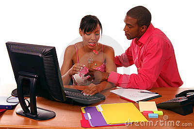 Office Romance Stock Photo