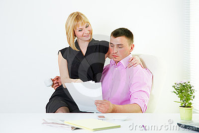 Office romance flirt with boss and secretary