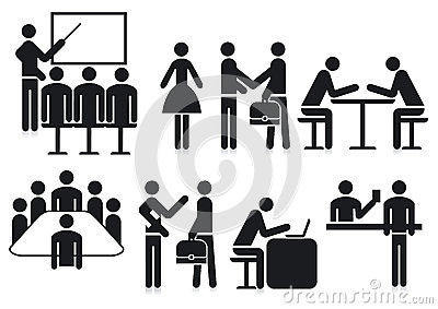 Office silhouetted icons