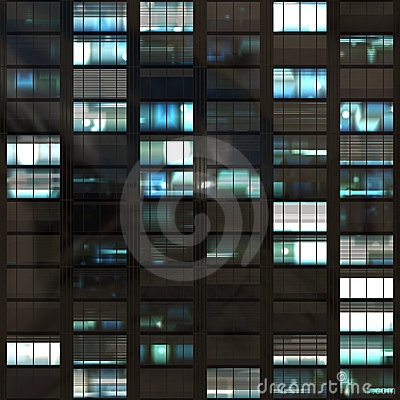 Office Skyscraper Windows Abstract