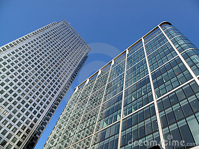 Office skyscrapers In London s Docklands