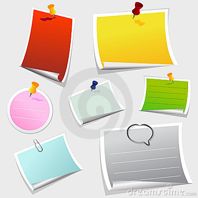 Free Office Sticker Royalty Free Stock Photos - 17378408