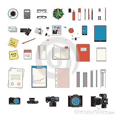 Free Office Stuff Collection Stock Image - 65571781