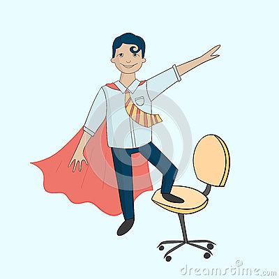 fice Superhero Chair Stock Vector Image