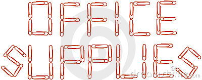 Office supplies red paper clips
