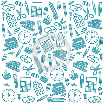 Office Supplies Seamless Background Royalty Free Stock Images - Image ...