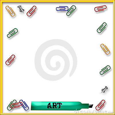 Office supply illustration