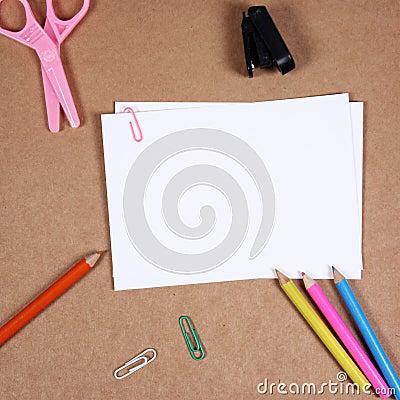 office tools on cork board