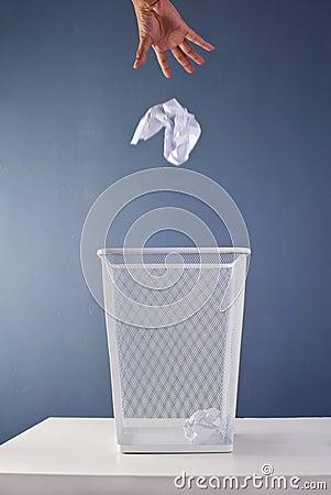Office Waste Paper Bin Stock Image - Image: 9928421