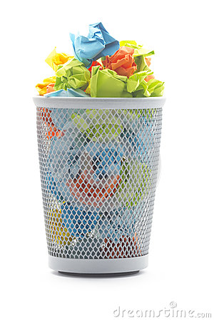 Free Office Wastepaper Basket Royalty Free Stock Photos - 28879368