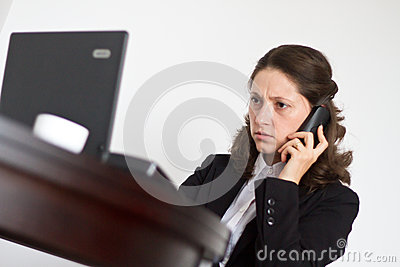 Office woman concentrated
