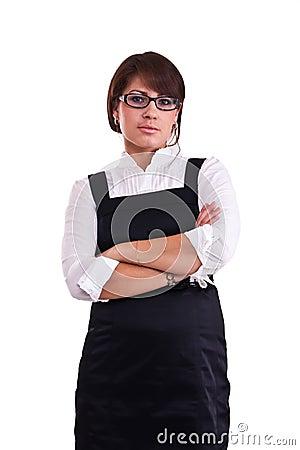 Office woman in studio