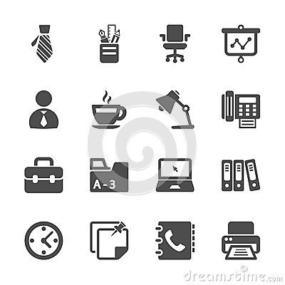 Free Office Work Icon Set, Vector Eps10 Stock Images - 45721174
