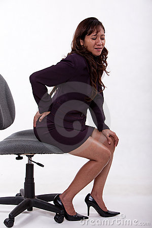 Office worker with backpain