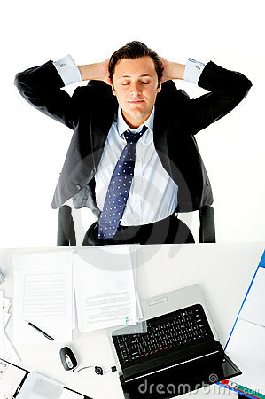 Free Office Worker Daydreams Stock Image - 22257021